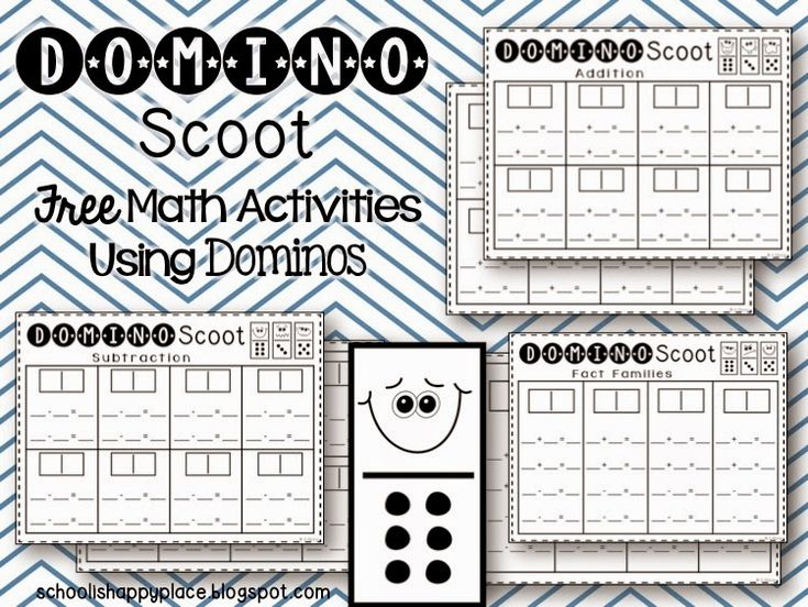 FREE Domino Scoot Printables for Addition Facts, Subtraction Facts, and Fact Families