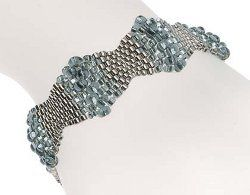 If you're searching for new free peyote stitch bracelet patterns, try out this pretty Glittering Diamonds Bracelet. The subtle little bursts of color make it look like it's sparkling in the light. With this pattern, seed beads are a girl's best frien
