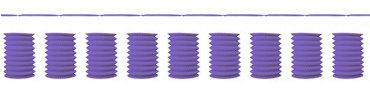 Purple Lantern Garland 12ft