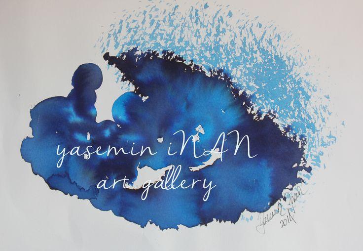 ink drawing blue ocean