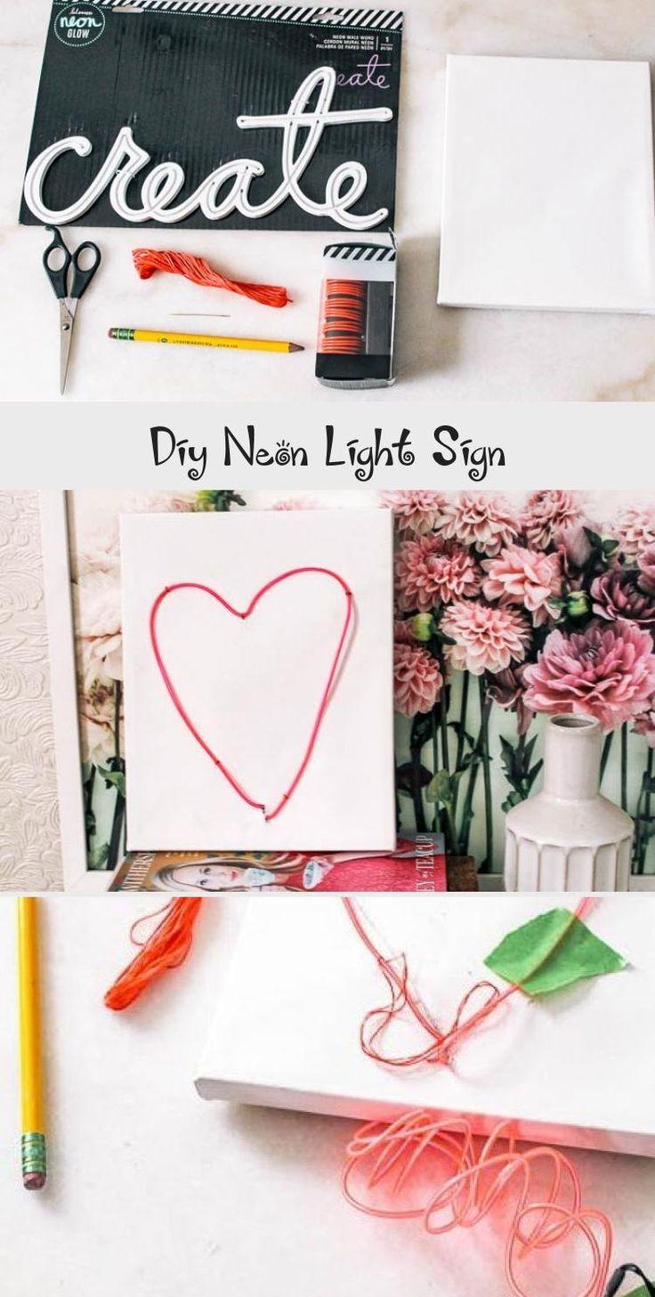 NEON SIGN in 2020 Diy art painting, Mini canvas art, Diy