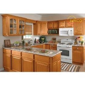 10x10 Randolph Oak Kitchen $1,199.99 #oakcabinets #kitchencabinets  #kitchens