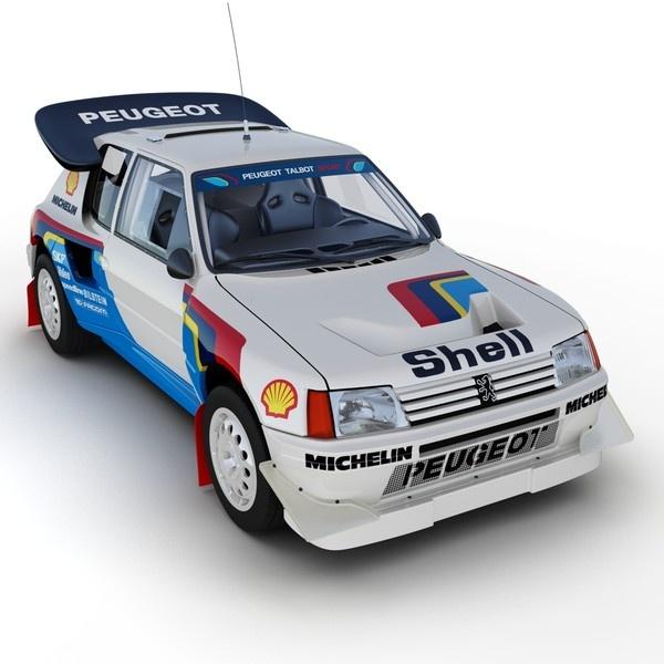 Peugeot 205 T16 Rally Car - White AV