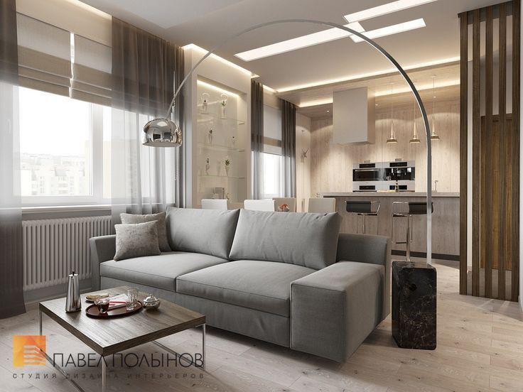 Дизайн кухни-гостиной в современном экологичном стиле
