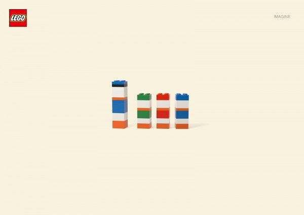 "Minimalist LEGO version of ""Donald Duck, Huey, Dewey and Louie"""