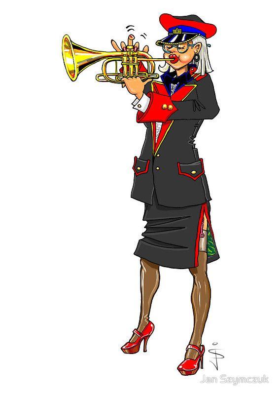 Brass Band - Trumpet Player by Jan Szymczuk