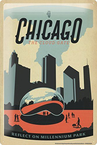 "Tin Sign Deco City Chicago Millenium Park 8X12"" leotie fashion&lifestyle http://www.amazon.co.uk/dp/B00J7N9O1M/ref=cm_sw_r_pi_dp_6QAjub1EEK0MK"
