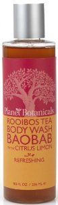 """Planet Botanicals Rooibos Tea Body Wash, Baobab with Citrus Limon, 8 Fluid Ounce by Planet Botanicals. $16.00. Baobab """"superfruit"""" oil from south africa contains highly nourishing antioxidants, plant sterols and vitamin e that help condition the skin and restore its natural luster. 100% natural 99% organic ingredients. Infused with refreshing organic citrus limon essential oil made by an artisan distiller in south africa. A refreshing and gentle organic body wash with nourishin..."""
