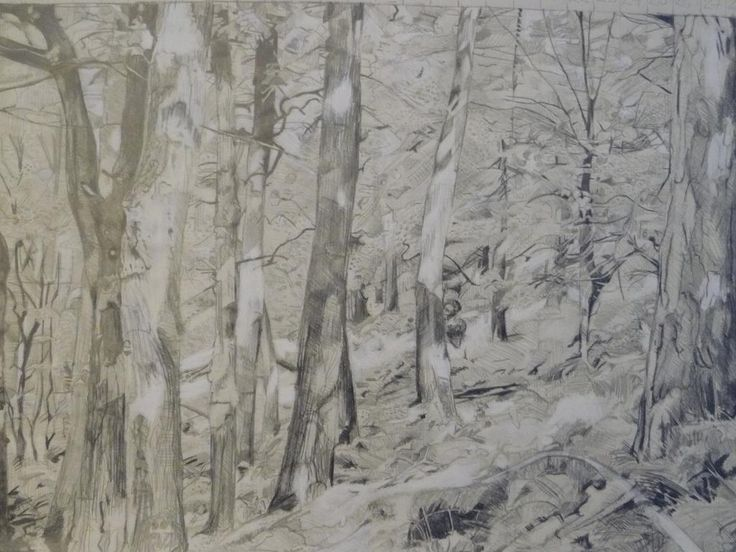 1 of 4 pencil drawings of Hardcastle Crags