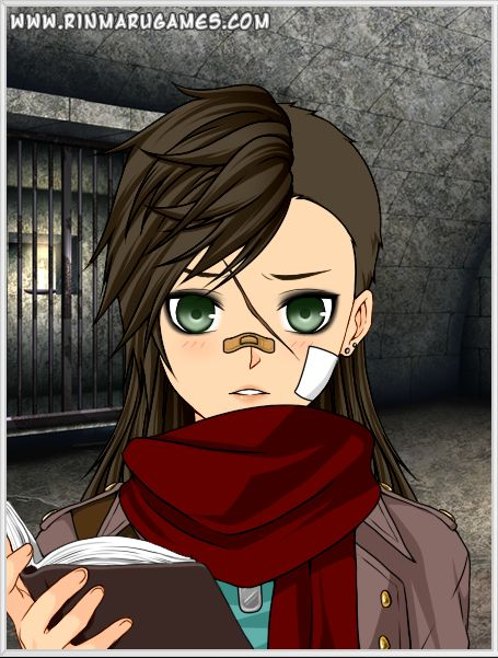 A basic image of Gracie that I created in Rinmaru's anime avatar creator.
