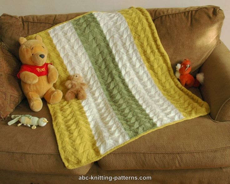 ABC Knitting Patterns - Double Pennant Baby Blanket