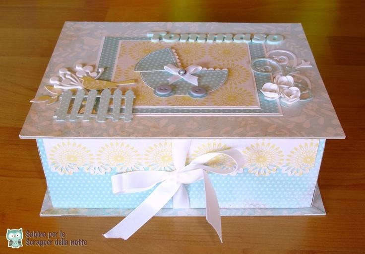 Briciole di Scrapbooking: Una scatola per una nascita