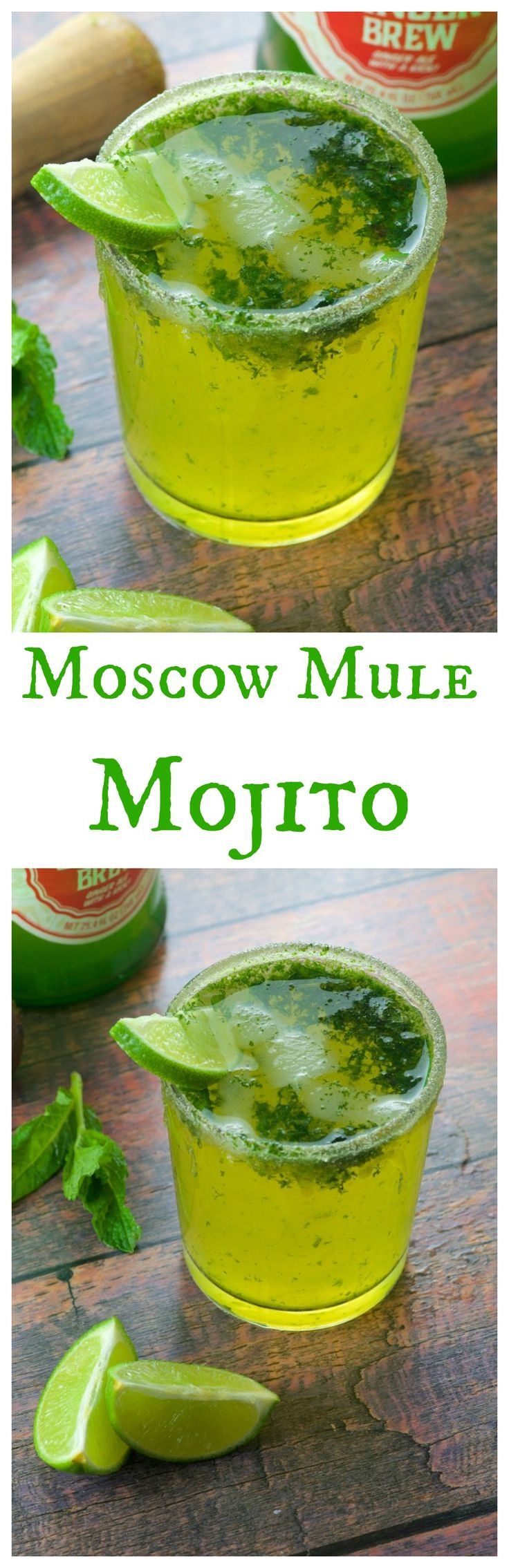 Ginger Beer Moscow Mule Mojito - An inventive mashup of two great drinks