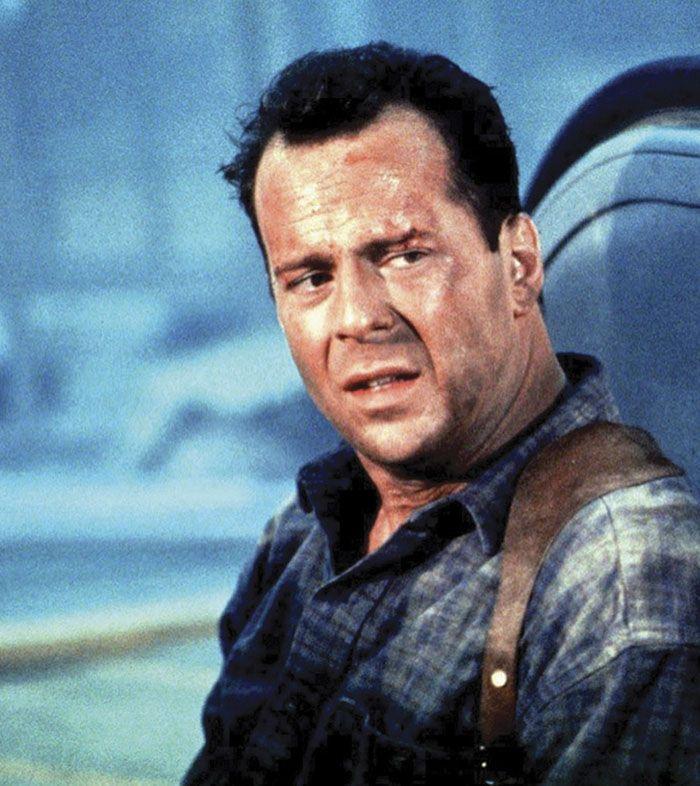 "Bruce Willis en ""La Jungla 2: Alerta Roja"" (Die Hard 2), 1990"
