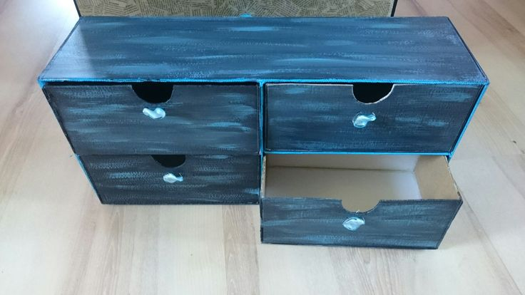 Cardboard box, drawers, upcycle, recycle