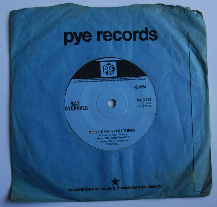 "Max Bygraves, You're my everything, 7"" vinyl single 45rpm"