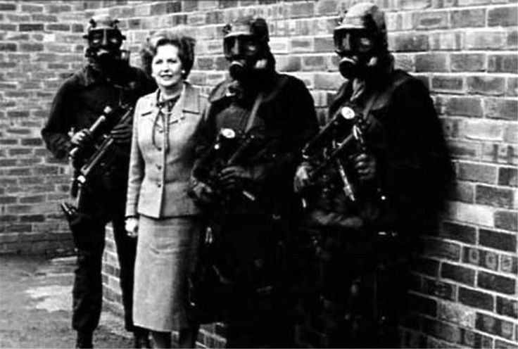 Margaret Thatcher with Special Air Service (SAS) RIP Lady