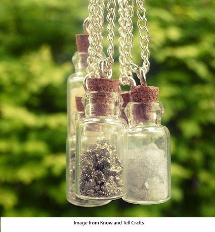 Memory Cork Bottle necklaces, 4 pack for $2.99