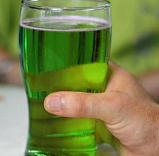 Saint Patricks day green beer