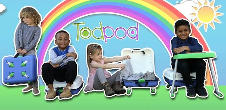 The NEW TodPod  is one of the smartest and most practical products we've come across and as you know as a loyal Celebrity Baby Trends reader, we've seen a lot! The TodPod is the ONLY portable lightweight bag that easily converts into a table and chair for your child. ~ Rachel Urso