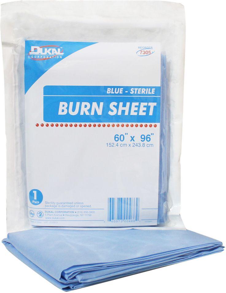 "dukal burn sheet, blue, 60""x96"", sterile, 1/pk 12pk/cs Case of 12"