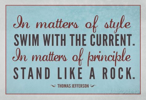 Stand Like A Rock Thomas Jefferson Quote Art Print Poster Posters at AllPosters.com