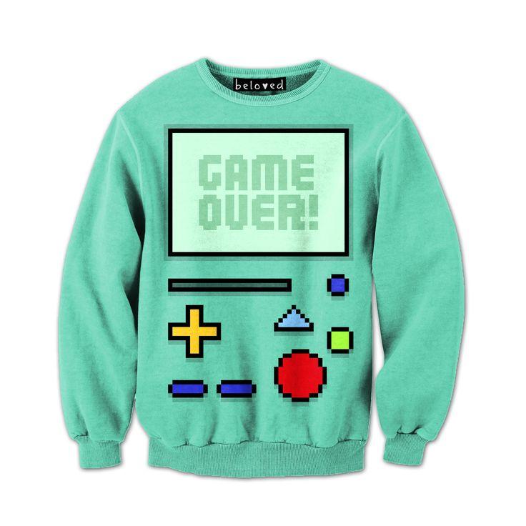 #AdventureTime Beemo Game Over Sweatshirt ($59)