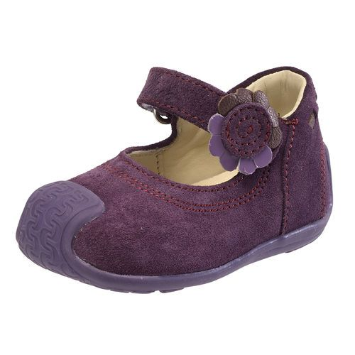 Chicco Gemina Baby Shoes - Plum, Size 4