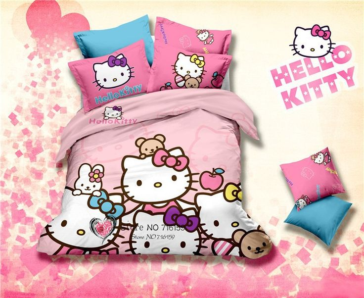 les 25 meilleures id es de la cat gorie hello kitty lit sur pinterest chambres hello kitty. Black Bedroom Furniture Sets. Home Design Ideas