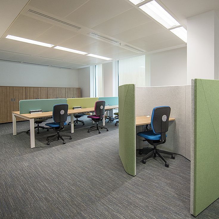 Haven Pods were used to create areas for focus and collaboration within larger open plan spaces