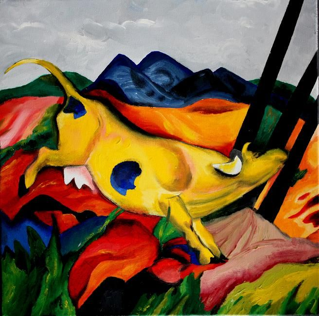 Franz Marc is my favorite painter. If we could do something in the style of Franz Marc, that would be awesome.