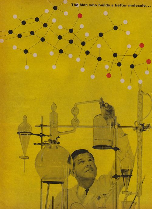 The Man Who Builds a Better Molecule… (via What Makes The Pie Shops Tick)Pies Shops, Vintage Science, Graphics Design, Graphics Posters, Buildings Molecule, Parties Ideas, Dr. Who, Awesome Things, Better Moleculeh