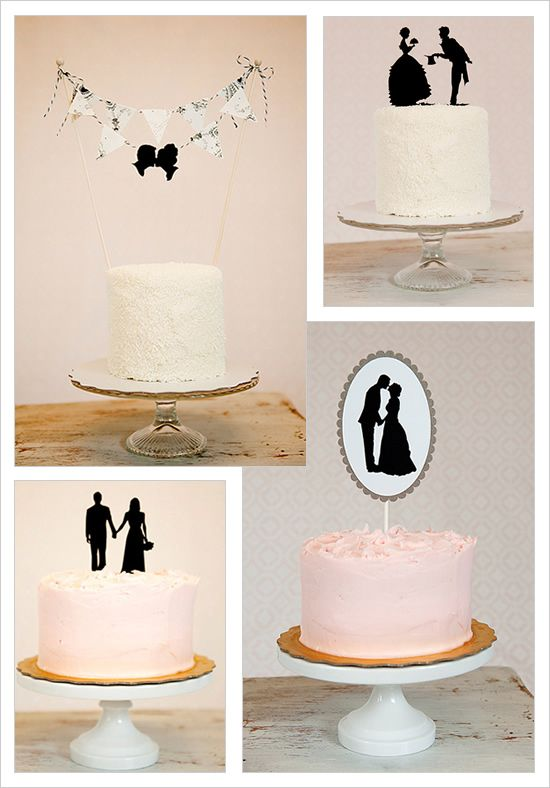 Silhouette Wedding Cake Topper By Simply Silhouettes