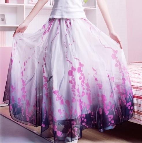 Fashion Women Floral Print Long Skirt  ourdressshop.com