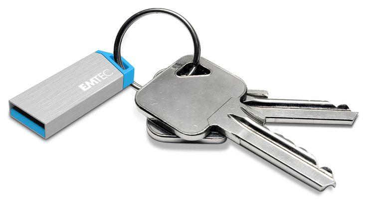 miniMetallic mini USB flash drive, 3/4 with key - 32GB #EMTEC #FlashDrive