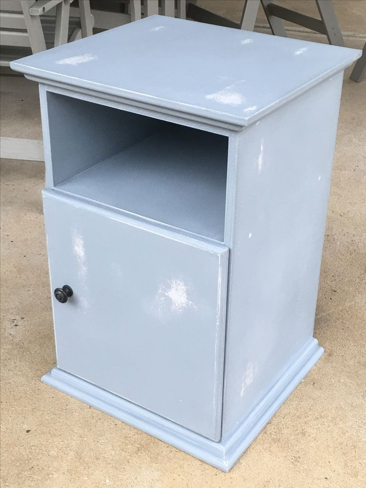 Distressed bedside table