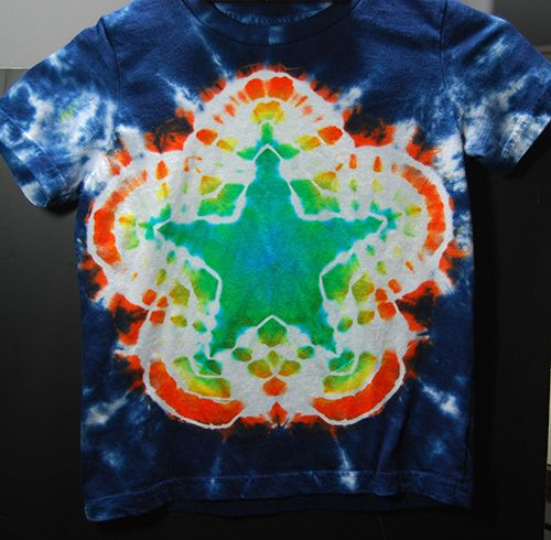 """A lot of people ask me """"how did you make that pattern?"""" or """"how can I make that myself?"""".  Recently, I was asked by a local art teacher and lover of tie dye how to make a 5…"""