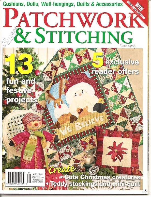 Patchwork & stitching - Joelma Patch - Álbuns da web do Picasa...FREE BOOK!!