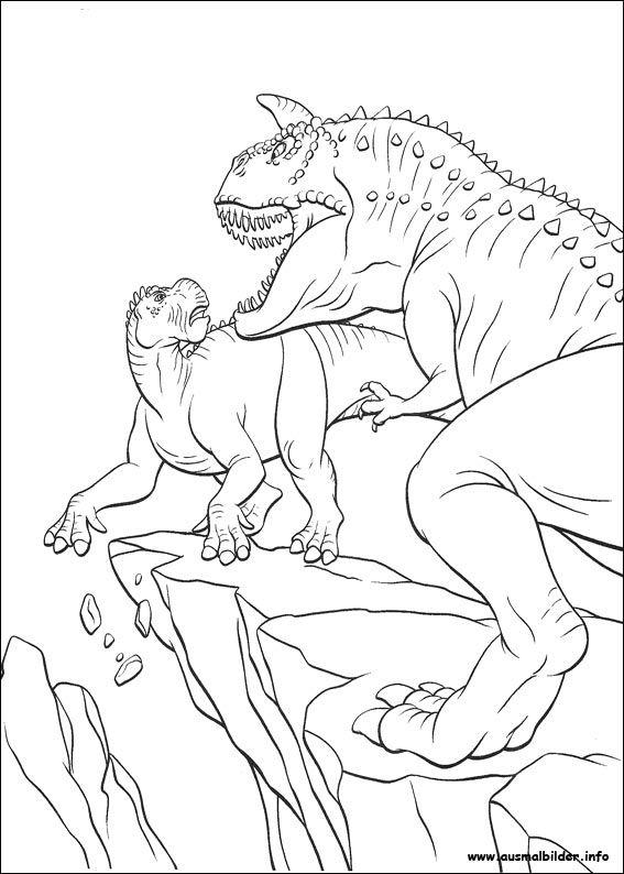 ausmalbilder dinosaurier fleischfresser  målarböcker