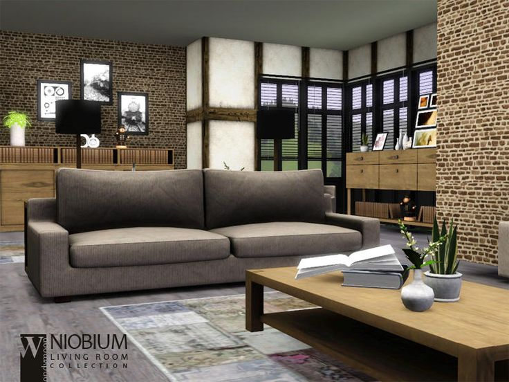 Niobium Living Found In TSR Category Sims 3 Room Sets