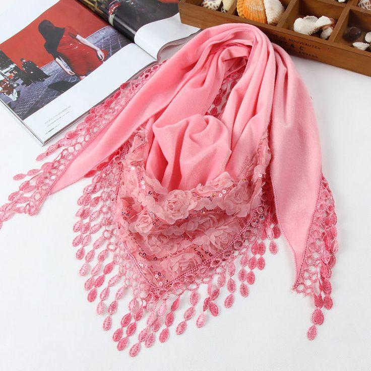 Washer Velvet Chiffon Tassels Wrap Multi-function Shawl Deltoidal Scarf #Handmade #ShawlWrapScarf #EveryDay