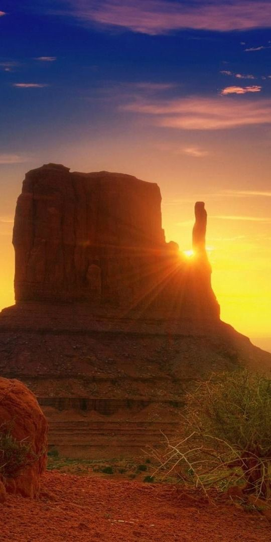 Sunset in Monument Valley Arizona By