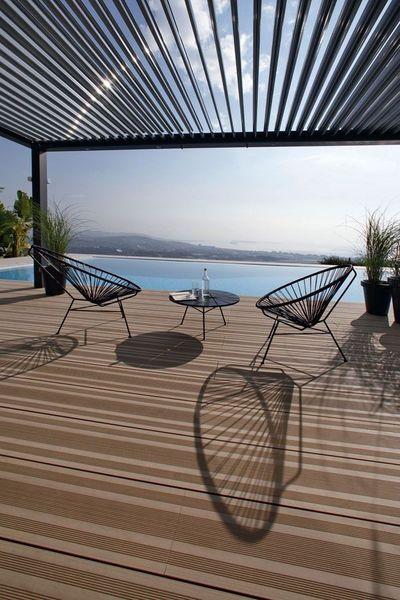 21 idées déco pour ma terrasse - CôtéMaison.fr Biossun, pergola bioclimatique  650€/m² posé