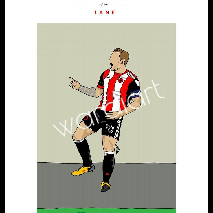 Billy Sharp print from the 'icons of the Lane' range by Sheffield United club artist wardi   See shop at www.wardiart.com for all pieces.
