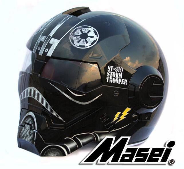 Masei 610 Star Wars Storm Trooper Darth Vader Motorcycle Bike Chopper HELMET #MaseiHelmet