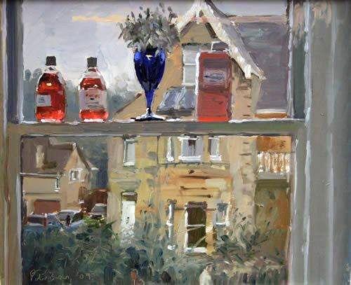 PETER BROWN Glaze Medium and Snowdrops, Studio Window