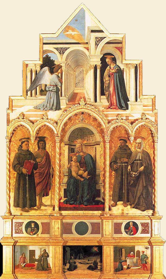 Polittico di Sant'Antonio (1460-70) - Piero della Francesca - Galleria Nazionale Umbra (Perugia)
