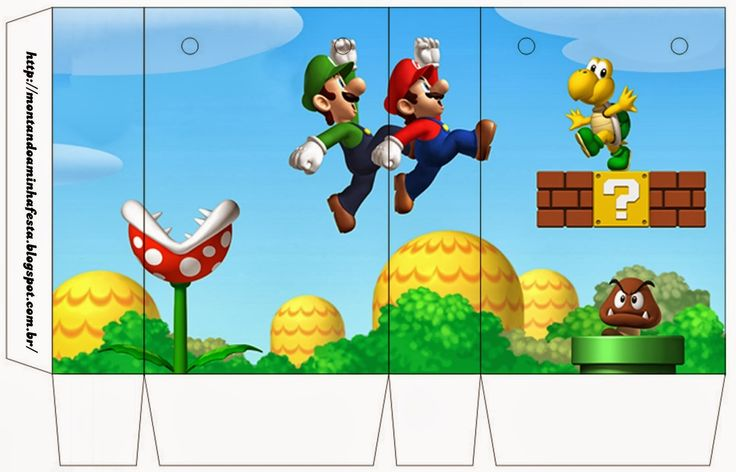 Super Mario Bros Free Printable Boxes.                                                                                                                                                                                 Mais