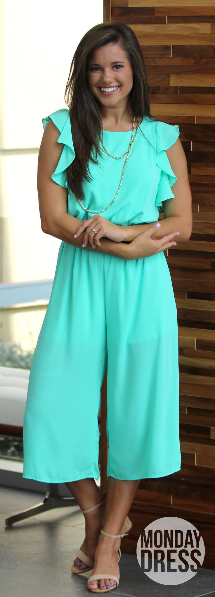 Something New Jumpsuit in Mint | Monday Dress Boutique