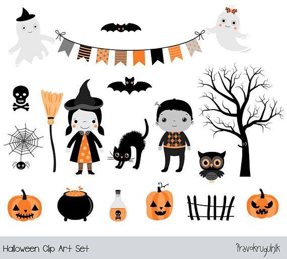 Halloween Clipart For Kids Cute Halloween Clipart Girl Witch Etsy Halloween Clipart Cute Halloween Happy Halloween Pictures